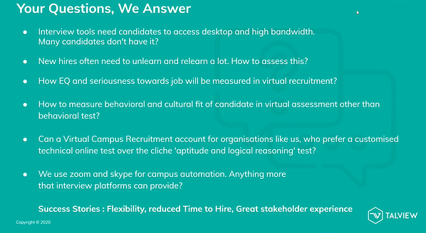 Virtual Campus Recruitment FAQs