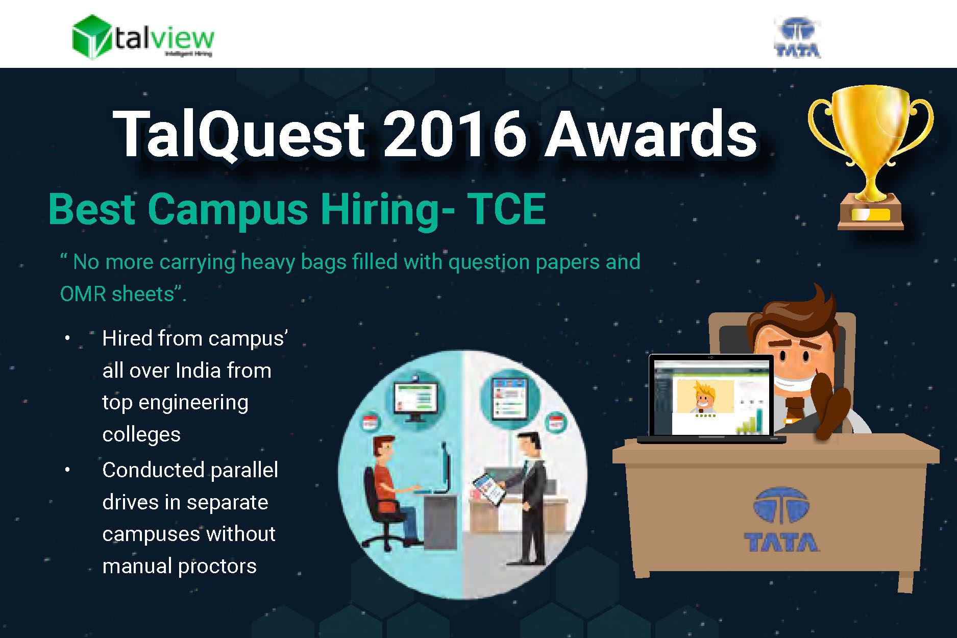 Best Campus Recruitment - TCE