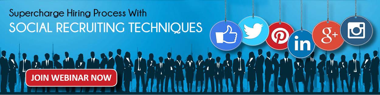 Webbinar : Social Media Recruiting Techniqies