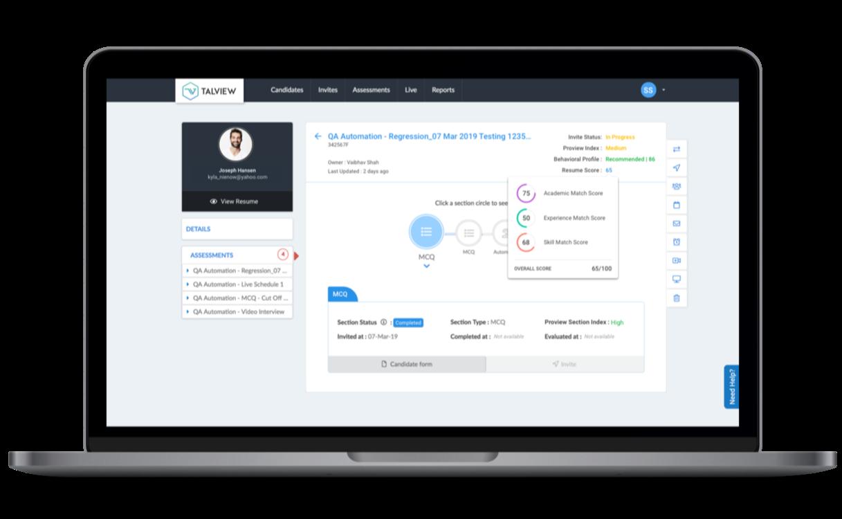 AI-enabled resume parsing onTalviewhiring platform