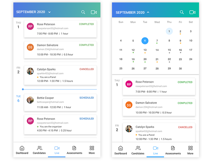 Auto-scheduling feature onTalview'smobile app